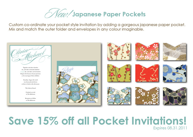 Japanese pocket style wedding invitations studio twenty four blog stopboris Image collections
